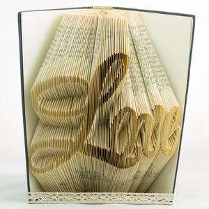 Prémium könyvszobor - Love felirat - Egyedi grafika - Szerelmes pároknak - Feleségnek - E678, Dekoráció, Otthon & lakás, Dísz, Lakberendezés, Utcatábla, névtábla, Papírművészet, \nHajtogatott könyv vagy más néven könyv origami. \nEgyedi elképzelés alapján bármilyen szöveg elkészí..., Meska