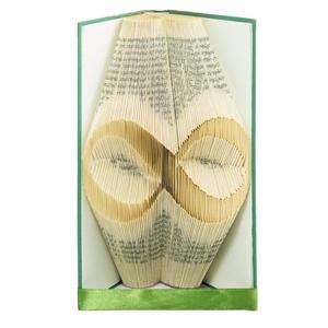 Nyugdíjas búcsúztató ajándék könyvszobor Hölgynek, Kollégának emlékkönyv, E46, Otthon & lakás, Dekoráció, Lakberendezés, Falikép, Papírművészet, Újrahasznosított alapanyagból készült termékek, Hajtogatott könyv vagy más néven könyv origami.   ****ALAP INFORMÁCIÓK**** A hajtogatott könyv ideá..., Meska