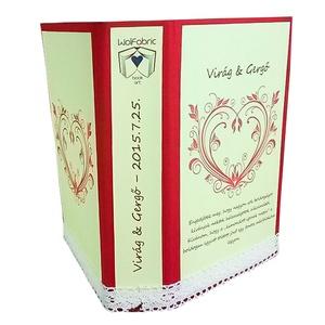 Személyre szabott borítók hajtogatott könyvszobrokhoz-Névnapra-Születésnapra-Évfordulóra-Ajándékba, Dekoráció, Otthon & lakás, Lakberendezés, Papírművészet, Szeretnéd, hogy kiszemelt könyvszobrod még egyedibb és személyre szabottabb ajándékká váljon?\n\nAz eg..., Meska