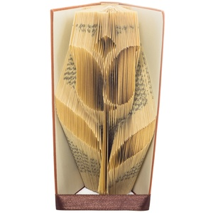 Tulipán könyvszobor, különleges virág, születésnapi ajándék, könyvmolynak, , Otthon & Lakás, Könyvszobor, Dekoráció, Hajtogatott könyv vagy más néven könyv origami.    ****ALAP INFORMÁCIÓK**** A hajtogatott könyv ideá..., Meska
