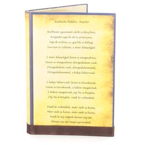 Pergamen mintájú borító könyvszoborhoz, Rusztikus hangulattal, Idézettel, Kedvenc verssel, , Otthon & lakás, Dekoráció, Lakberendezés, Szeretnél a könyvszobrodnak egy különleges küllemet adni? Nem elégedsz meg a meghajtogatott minta eg..., Meska