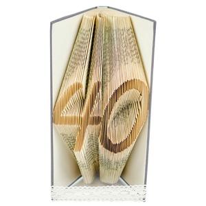 40 - Egyedi számos hajtogatott könyv origami - születésnapra - évfordulóra - két karakter - könyvszobor - E100, Otthon & Lakás, Könyvszobor, Dekoráció, Hajtogatott könyv vagy más néven könyv origami.  Egyedi elképzelés alapján bármilyen szöveg elkészít..., Meska