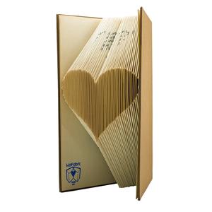 Szív formájú könyvszobor - Esküvőre- Lakodalomba - Szerelmeseknek- Valentin napra - Ajándék - E61, Otthon & Lakás, Könyvszobor, Dekoráció, Hajtogatott könyv vagy más néven könyv origami.   ****ALAP INFORMÁCIÓK**** A hajtogatott könyv ideál..., Meska