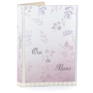 Esküvői külső borító könyvszoborhoz, Virágos hangulattal, Leveles díszítéssel, Dekoráció, Otthon & lakás, Lakberendezés, Esküvő, Nászajándék, Papírművészet, A Különleges Rózsaszín álom borítót neked találtam ki, ha valami igazán egyedire vágysz. \nTöbb külön..., Meska