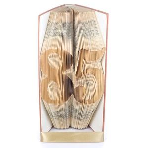 85 - Könyvszobor, könyv origami - 85. születésnapra, Otthon & lakás, Férfiaknak, Dekoráció, Dísz, Hajtogatott könyv vagy más néven könyv origami.  Egyedi elképzelés alapján bármilyen szöveg elkészít..., Meska