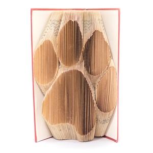 Tappancs mintájú hajtogatott könyv origami - kutya macska szeretőknek - állatbarátoknak - lábnyom, Otthon & lakás, Dekoráció, Állatfelszerelések, Lakberendezés, Kerti dísz, Hajtogatott könyv vagy más néven könyv origami.   ****ALAP INFORMÁCIÓK**** A hajtogatott könyv ideál..., Meska