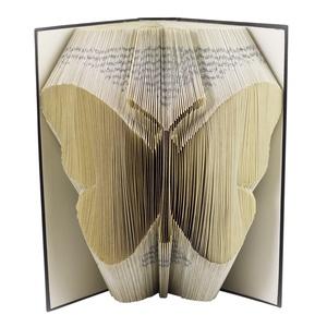 Pillangó mintájú hajtogatott könyv origami - lepke - állatbarátoknak - Gyereknek- E637, Otthon & lakás, Dekoráció, Dísz, Lakberendezés, Hajtogatott könyv vagy más néven könyv origami.   ****ALAP INFORMÁCIÓK**** A hajtogatott könyv ideál..., Meska