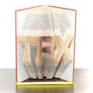 TRX feliratos könyvszobor, Sportolónak, Edzőnek, , Otthon & lakás, Férfiaknak, Dekoráció, Dísz, Lakberendezés, ****ALAP INFORMÁCIÓK**** A hajtogatott könyv ideális ajándéknak bizonyul életünk minden nagyobb esem..., Meska