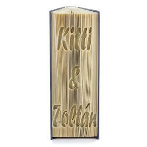 Exkluzív Nászajándék könyvszobor, Prémium Esküvői ajándék, Lakodalomra, Kreatív trendi ajándék pénz mellé,  , Esküvő, Esküvői dekoráció, Nászajándék, Prémium megjelenésű könyvszobor vagy más néven könyv origami.   ****ALAP INFORMÁCIÓK**** A hajtogato..., Meska