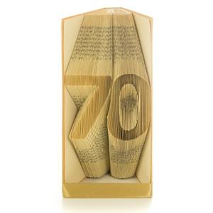 70. Születésnapra Egyedi hajtogatott könyvszobor, Nagypapának Apának idős férfinak, hetvenedik szülinapra ajándék E655, Otthon & Lakás, Könyvszobor, Dekoráció, Hajtogatott könyv vagy más néven könyv origami.  Egyedi elképzelés alapján bármilyen szöveg elkészít..., Meska