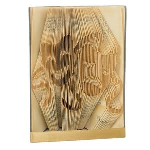 Maszk formájú könyvszobor - Komédia - Tragédia - Dráma - Színház - Színész ajándék - E241, Otthon & lakás, Karácsony, Dekoráció, Képzőművészet, Lakberendezés, Ünnepi dekoráció, Hajtogatott könyv vagy más néven könyv origami.   ****ALAP INFORMÁCIÓK**** A hajtogatott könyv ideál..., Meska