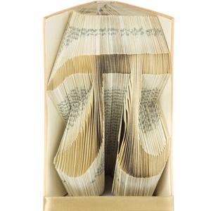 PÍ mintájú hajtogatott könyv origami - Iskola - Tanár - 3,14 - Matek - Matematika - Mérnök - Tudomány - E199, Otthon & lakás, Férfiaknak, Dekoráció, Lakberendezés, Hajtogatott könyv vagy más néven könyv origami.   ****ALAP INFORMÁCIÓK**** A hajtogatott könyv ideál..., Meska