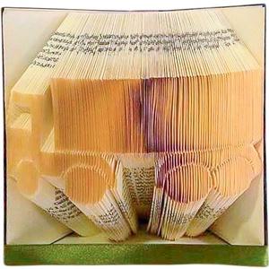 Kamion alakú hajtogatott könyvszobor, Sofőr ajándék, Férjnek, Apának, Kamionosnak, Otthon & lakás, Dekoráció, Lakberendezés, Falikép, Hajtogatott könyv vagy más néven könyv origami.   ****ALAP INFORMÁCIÓK**** A hajtogatott könyv ideál..., Meska