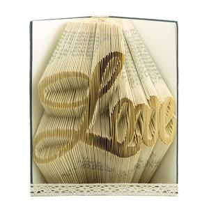 Prémium könyvszobor, Love felirat, Szerelmemnek évfordulós, Barátnőnek Feleségnek egyedi szülinapi ajándék ötlet E678, Könyvszobor, Dekoráció, Otthon & Lakás, Papírművészet, ❤️❤️Személyreszabott könyvszobor Valentin-napra. ❤️❤️\n\nEgyedi elképzelés alapján bármilyen szöveg el..., Meska