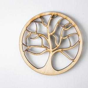 Fa mintájú lézervágott fa poháralátét vonalakkal - kávénak - teának - A001 (wolflaserart) - Meska.hu