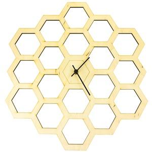 """Óriás Méhész falióra - Hatszög forma - Férfiaknak - Modern - Minimal - Méhsejt óra - Nászajándék - Nappali, Otthon & Lakás, Falióra & óra, Dekoráció, """"Szerelmem olyan, mint egy virág. Én vagyok a rügy, te vagy a méh. Teljesen a tiéd vagyok.""""  Unod má..., Meska"""