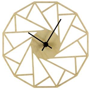 Különleges geometriai óra - Játékos - Vicces - Férfiaknak - Modern - Minimal - 3D - Matematika - Háromszögek, Otthon & Lakás, Falióra & óra, Dekoráció, Unod már az egyszerű, egyhangú faliórákat? Szeretnéd, ha szobád falát egy egyedi, fából készített ór..., Meska