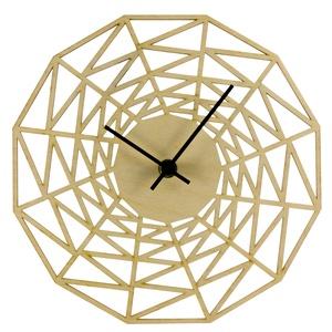 Pókháló óra - Játékos - Vicces - Férfiaknak - Modern - Minimal - 3D - Matematika - Háromszögek - Különleges, Otthon & Lakás, Falióra & óra, Dekoráció, Unod már az egyszerű, egyhangú faliórákat? Szeretnéd, ha szobád falát egy egyedi, fából készített ór..., Meska