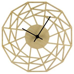 Pókháló óra - Játékos - Vicces falióra - Férfiaknak - Modern - Minimal - Matematika - Háromszögek - Különleges, Otthon & Lakás, Falióra & óra, Dekoráció, Unod már az egyszerű, egyhangú faliórákat? Szeretnéd, ha szobád falát egy egyedi, fából készített ór..., Meska