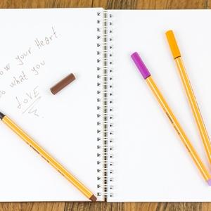Fa borítású notesz, Gravírozott jegyzettömb, Bakancslista, Spirituális napló, Esküvői tervező - Meska.hu