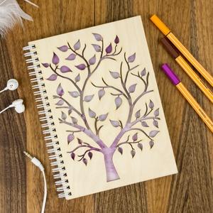 Fa borítású notesz, Gravírozott jegyzettömb, Bakancslista, Spirituális napló, Esküvői tervező, Naptár, képeslap, album, Otthon & lakás, Jegyzetfüzet, napló, Naptár, Gravírozás, pirográfia, Könyvkötés, Szerettünk volna egy olyan kreatív társat megalkotni számodra, amit jó érzés magadnál hordani, inspi..., Meska