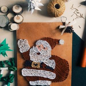 Mikulás, Mikulás, Karácsony & Mikulás, Otthon & Lakás, Famegmunkálás, Mindenmás, Fonalból készült Mikulás. Remek kiegészítője a téli hangulatnak. Gyerekeknek, felnőtteknek ajándékba..., Meska