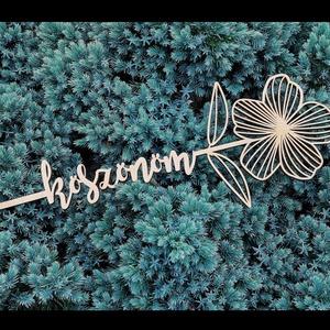 Fából virág - köszönöm felirattal (wompass) - Meska.hu