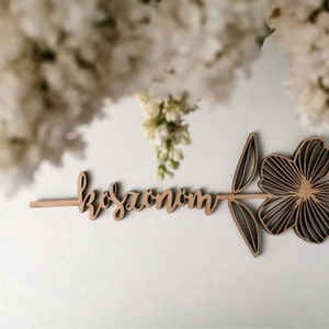 Ballagási ajándék virág fából köszönöm felirattal, Felirat, Dekoráció, Otthon & Lakás, Famegmunkálás, Adj maradandó emléket ballagásra, kedveskedj virággal. :)\nÓvónéninek, általános iskolás tanároknak s..., Meska