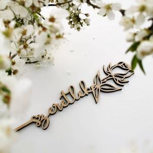 Anyák napi ajándék rózsa - szeretlek felirattal, Otthon & Lakás, Dekoráció, Famegmunkálás, Adj maradandó emléket Anyák napjára, kedveskedj virággal. :)\n\nFeliratot is kérhetsz a virág hátuljár..., Meska
