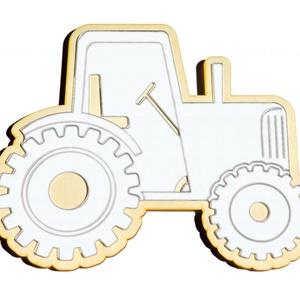 Traktor gyerekbarát tükör, Gyerek & játék, Gyerekszoba, Dekoráció, Otthon & lakás, Lakberendezés, Famegmunkálás, Gravírozás, pirográfia, Traktor, saját tervezésű és gyártású Gyerekbarát akril fali tükör \n\nA gyermekek számára készülő tükr..., Meska