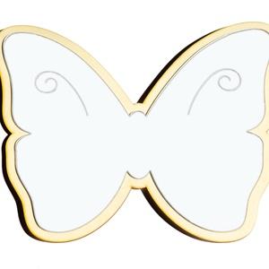 Pillangó gyerekbarát tükör, Tükör, Dekoráció, Otthon & Lakás, Famegmunkálás, Gravírozás, pirográfia, Pillangó, saját tervezésű és gyártású Gyerekbarát akril fali tükör \n\nA gyermekek számára készülő tük..., Meska
