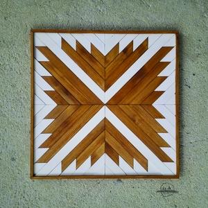 Skandinávia- falidísz fából, Dekoráció, Otthon, lakberendezés, Dísz, Falikép, Famegmunkálás, Festett tárgyak, Hulladékfa felhasználásával készült fa dekorációs termék.  Méret: 50x50 cm , Meska