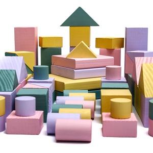 WoodYdreams BE CREATIV! BIG 2. (építőkocka készlet) lányoknak, Játék & Gyerek, Építőjáték, Famegmunkálás, Fa színes építőkocka készlet gyerekeknek vagy akár az egész családnak!\nNagy méretű építőelemeket tar..., Meska