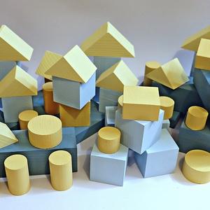 WoodYdreams BE CREATIV! BIG (építőkocka készlet) fiúknak, Játék & Gyerek, Építőjáték, Famegmunkálás, Fa színes építőkocka készlet gyerekeknek vagy akár az egész családnak!\nNagy méretű építőelemeket tar..., Meska