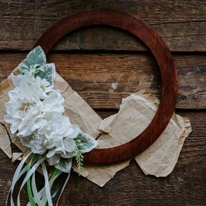 Nyári virágos ajtódísz, koszorú Kopogtató Falidísz, Otthon & Lakás, Dekoráció, Falra akasztható dekor, Virágkötés, Meska