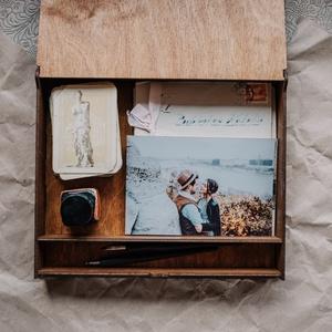 Emlékdoboz, fényképtartó doboz, esküvői doboz - Meska.hu