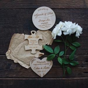 Esküvői köszönőajándék, poháralátét - esküvő - emlék & ajándék - köszönőajándék - Meska.hu