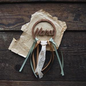 Névre szóló, bohó alternatív esküvői ültetőkártya, köszönőajándék - esküvő - meghívó & kártya - ültetési rend - Meska.hu