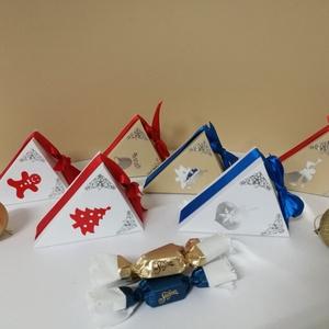 Karácsonyi ajándékdobozka, Karácsony & Mikulás, Karácsonyi csomagolás, Papírművészet, Ha nem szeretnél nagy ajándékot adni, vagy esetleg a dolgozóidat szeretnéd meglepni valamivel, akkor..., Meska