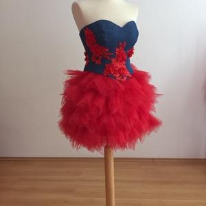 Ízisz ruha, Ruha & Divat, Női ruha, Szoknya, Varrás, Az Ízisz ruha két részes. Szoknya és corset.\nA szoknyát piros, puha tüllböl készítettem. A cakkokat ..., Meska
