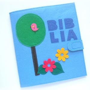 BIBLIA baba könyv / babakönyv, interaktív játszókönyv, készségfejlesztő foglalkoztató könyv, Montessori játék, Gyerek & játék, Játék, Készségfejlesztő játék, Baba játék, Baba-mama kellék, Patchwork, foltvarrás, Varrás, A baba könyv játék vagy könyv? Mindkettő :)  További előnye, hogy nem szakad el, nem gyűrődik, és ne..., Meska