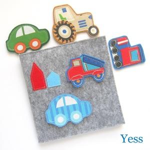 JÁRMŰVEK baba könyv / babakönyv, készségfejlesztő játszókönyv, babajáték, textilkönyv, csendeskönyv, matató könyv, Játék & Gyerek, 3 éves kor alattiaknak, Készségfejlesztő, Varrás, Patchwork, foltvarrás, Autó hátán autó :)  \nMosható interaktív textil babakönyv, készségfejlesztő könyv, Montessori játék 1..., Meska