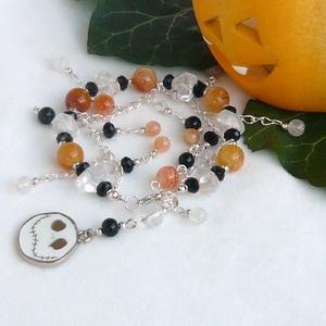 Egyedi Halloween női karkötő háromféle ásványból (YneroKoDesign) - Meska.hu