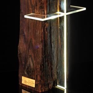 BEAM CROSS 100 éves borovifenyő gerendából készült asztali hangulatvilágítás., Karácsony, Karácsonyi dekoráció, Otthon & lakás, Lakberendezés, Lámpa, Asztali lámpa, Hangulatlámpa, Famegmunkálás, Szobrászat, Speciális szerszámokkal, kialakított belső üregben elhelyezett, fokozatmentes fényerő szabályzós, pi..., Meska