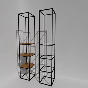 CUBUS 1.0 Minimal Art acél térhasábok polc opcióval, Otthon & lakás, Lakberendezés, Dekoráció, Famegmunkálás, Fémmegmunkálás, Egyedi MINIMAL ART  térképző geometriai elemek. Könnyed légies hasáb formák  modern lakások, irodák,..., Meska