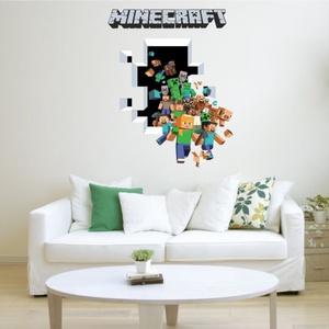 Minecraft mintás falmatrica 50x70cm, Otthon & Lakás, Dekoráció, Falmatrica & Tapéta, Fotó, grafika, rajz, illusztráció, Minecraft mintás falmatrica\n\nMérete kb.50x70 cm\n\nKészleten van, bármikor rendelhető!\n\nA termékek mér..., Meska