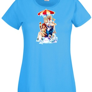 Jégvarázs, Elza, Anna stílusú mintás póló, Ruha & Divat, Női ruha, Póló, felső, Festett tárgyak, Egyedi kérésre készítjük,\n\naz általad választott fazonú (női, férfi, gyerek), színű és méretű pólóra..., Meska