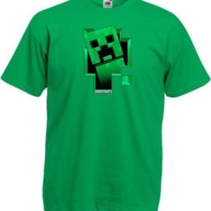 Minecraft creeper ablakos mintás póló, Ruha & Divat, Férfi ruha, Póló, Festett tárgyak, Fotó, grafika, rajz, illusztráció, Egyedi kérésre készítjük,\n\naz általad választott fazonú (női, férfi, gyerek), színű és méretű pólóra..., Meska
