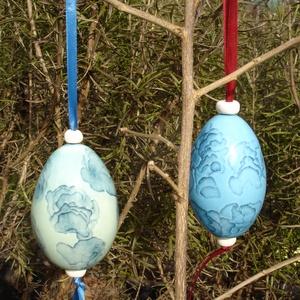 exkluzív porcelán tojás, Művészet, Kerámia, Különleges technikával készített, öntött, üreges porcelán tojás.\nmérete: 8 x 5 cm\nsúlya: 70 g..., Meska