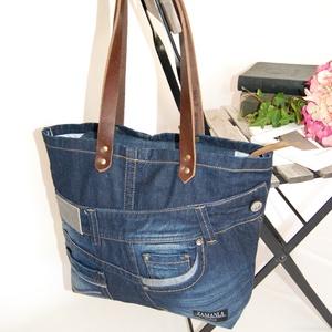 MEXX farmer válltáska, Válltáska, Kézitáska & válltáska, Táska & Tok, Újrahasznosított alapanyagból készült termékek, Varrás, Ez a minőségi, újrahasznosított alapanyagokból készült táska remek társa lehet egy stílusos nőnek, e..., Meska
